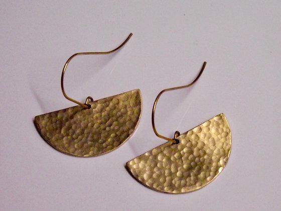 Half Circle Drop Earrings - Large