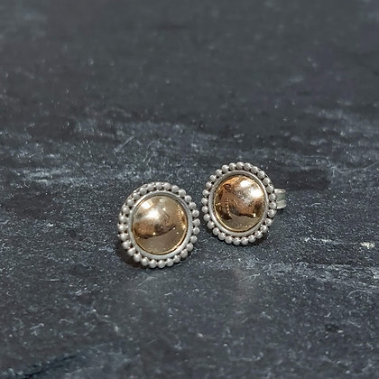 Gold Leaf Button Studs