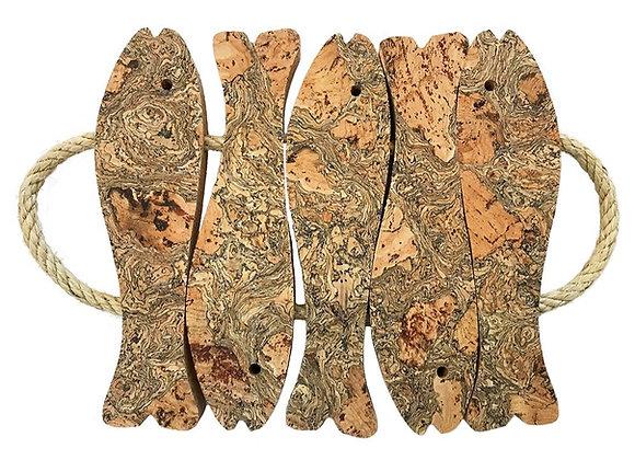 5 Fish Cork Trivet