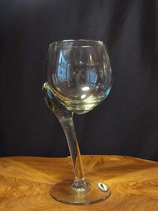 Crooked White Wine Glass