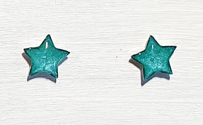Mini Star Stud Earrings - Turquoise
