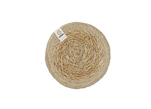 Seagrass & Jute Coaster - Natural