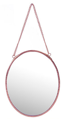 Copper Finish Oval Mirror