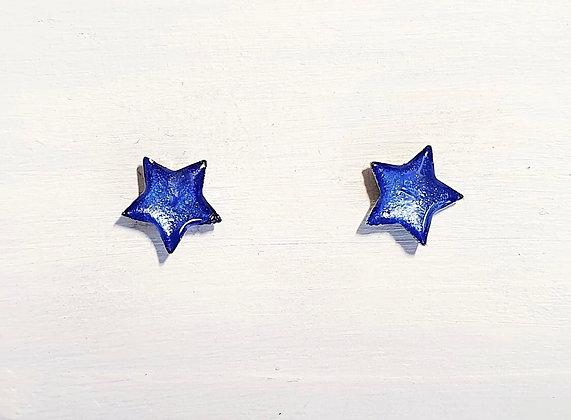 Mini Star stud Earrings - Cornflower Blue