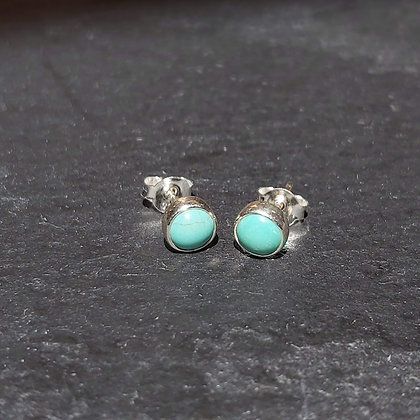 4mm Turquoise Stone Studs
