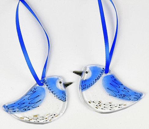 Chookie Bird Glass Hanging Decoration