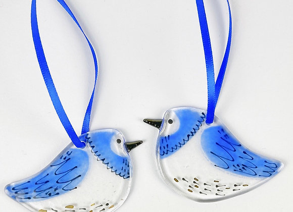 Chookie Bird Glass Hanging Decoration