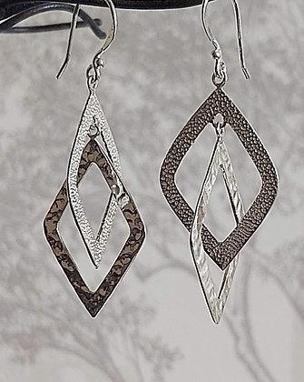 Interlaced Diamond Drop Earrings