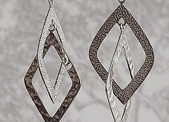 Interlaced Diamond Drop Earrings