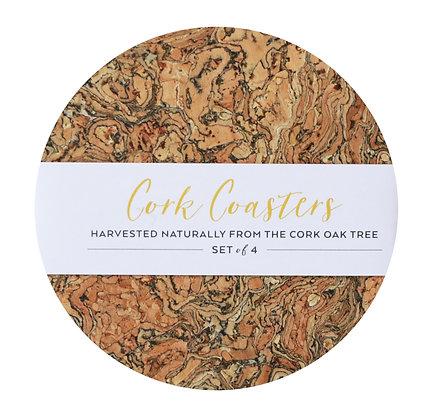 Cork Round Coasters - Set of 4