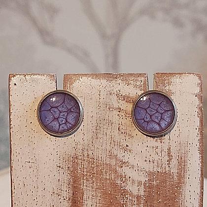 Round Stud Earrings - Violet