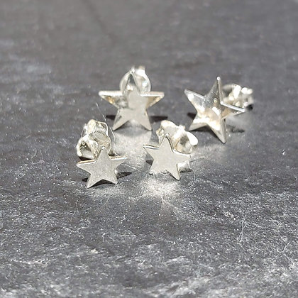 Flat Star Studs - Large