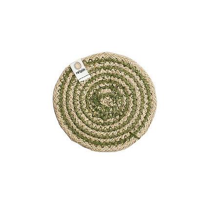 Jute Spiral Coaster - Green
