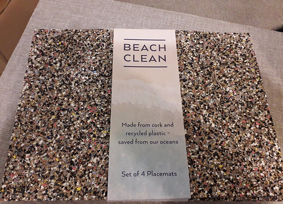 Beach Clean Square Placemats - Set of 4