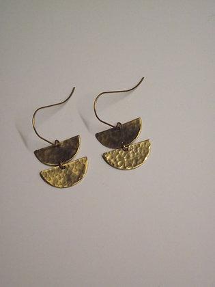 Half Circle Duo Drop Earrings
