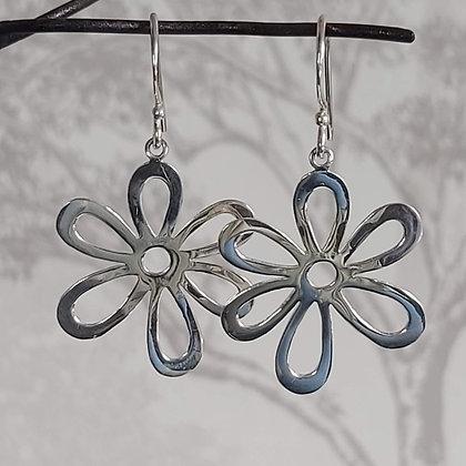 Open Flower Drop Earrings
