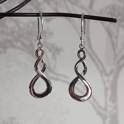 Double Twist Drop Earrings