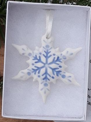 Blue Snowflake Hanging Decoration