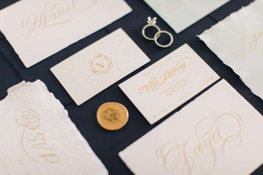 Your go to calligrapher for your weddings and events