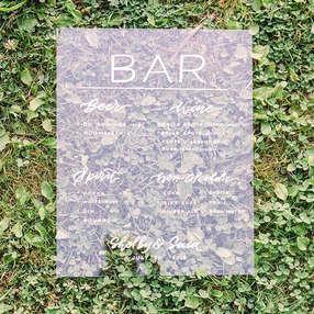 Bar Sign on Vinyl