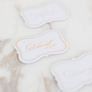 Wedding Place Cards - Gold Calligraphy