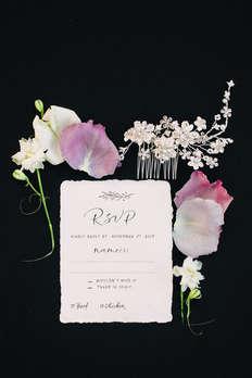 Wedding hand written RSVP