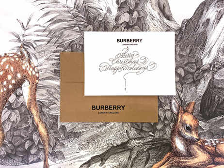 On Site Calligraphy with Burberry