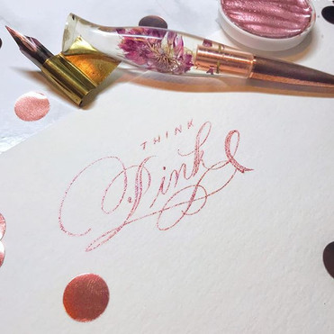 Breast Cancer Awareness Calligraphy