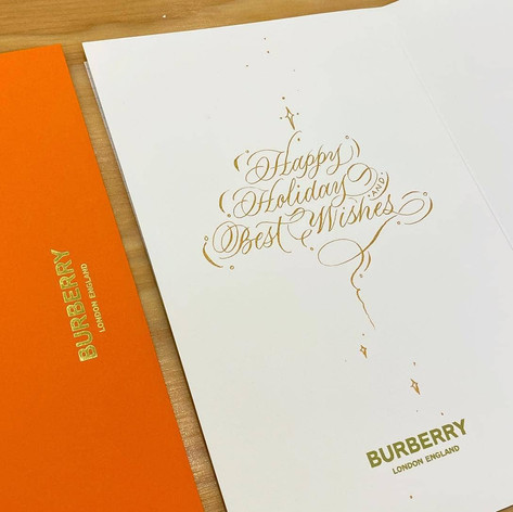 On Site Calligraphy for Burberry Vancouver
