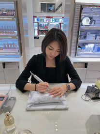 On Site Engraving event for Guerlain Nordstorm