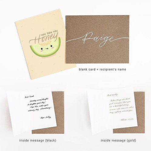Card with Customizable messages