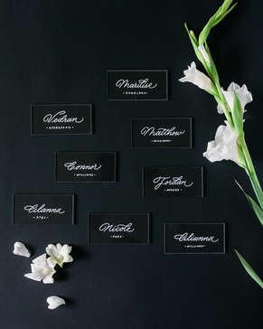 Wedding place cards vinyl pieces
