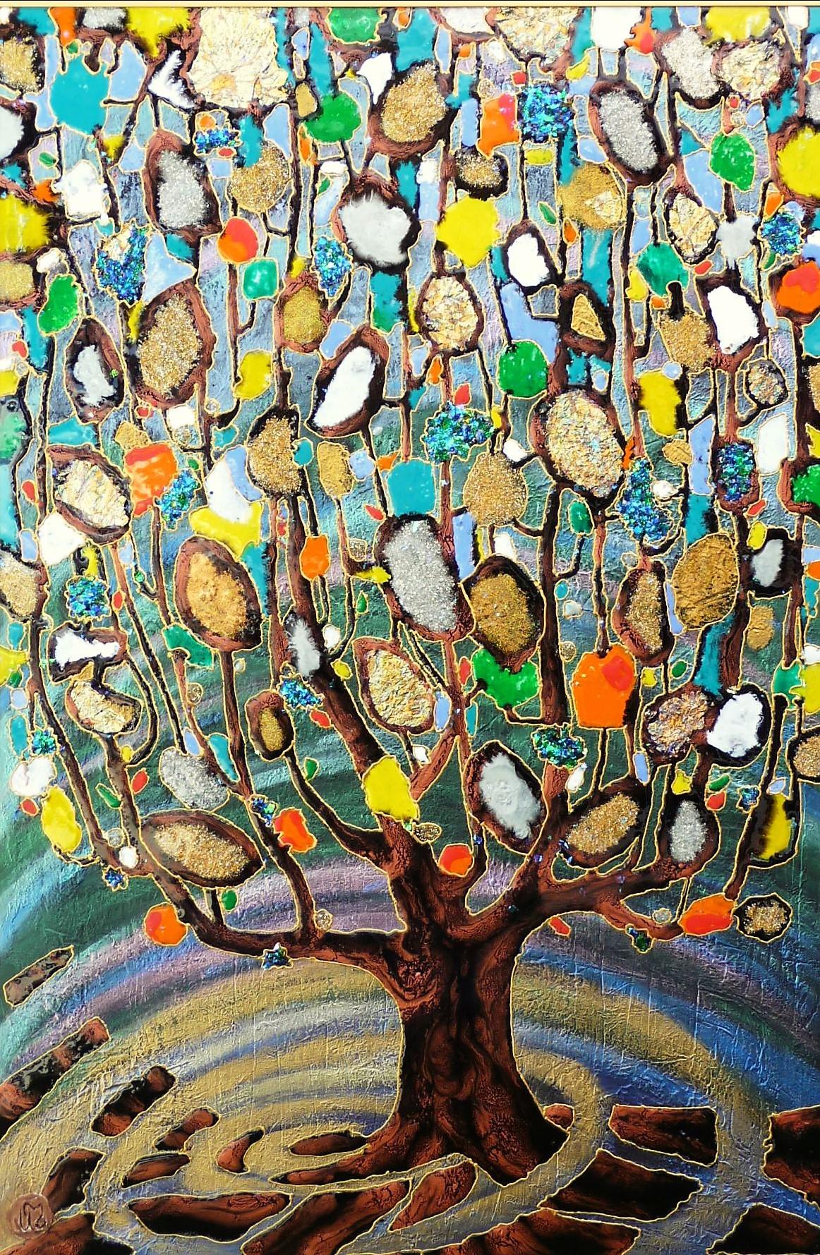 "Klimtomatic Tree 36""x48"""