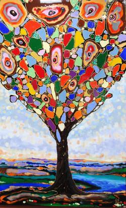 """Happy tree 36""""x48"""""""