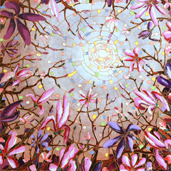 """Liquid Magnolia 36""""x36"""""""
