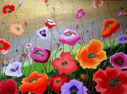 "Cheerful Poppies 36""x48"""