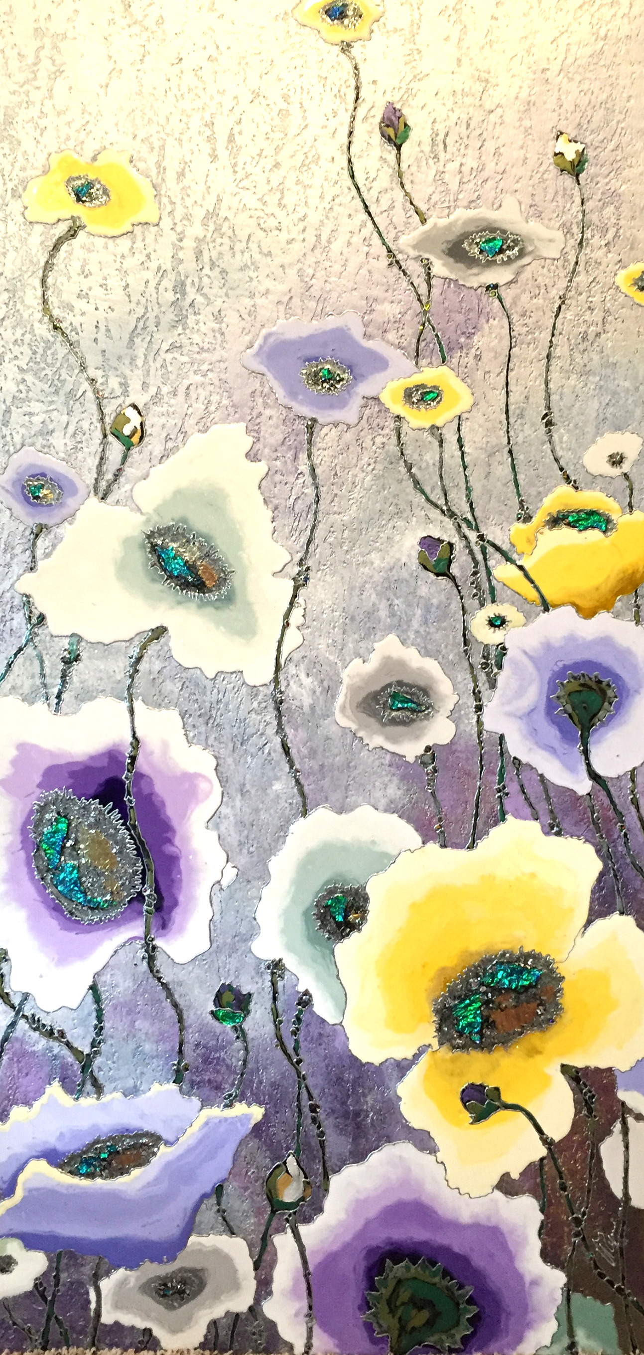 "Cold Poppies 24""x48"""