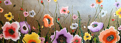 """Dreamy Poppies 32""""x80"""" commissioned"""