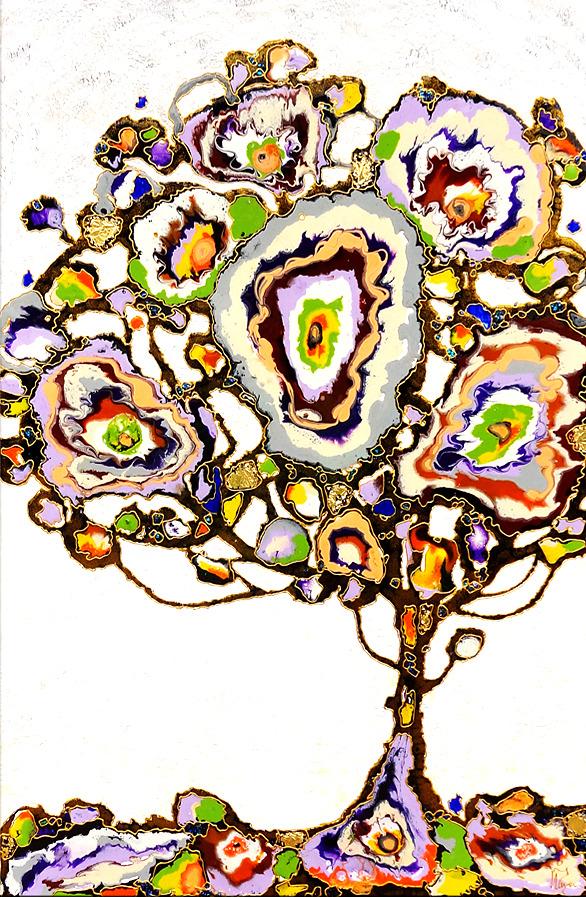 "Agate tree 36""x48"""