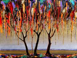 "Melting tree 48""x36"""