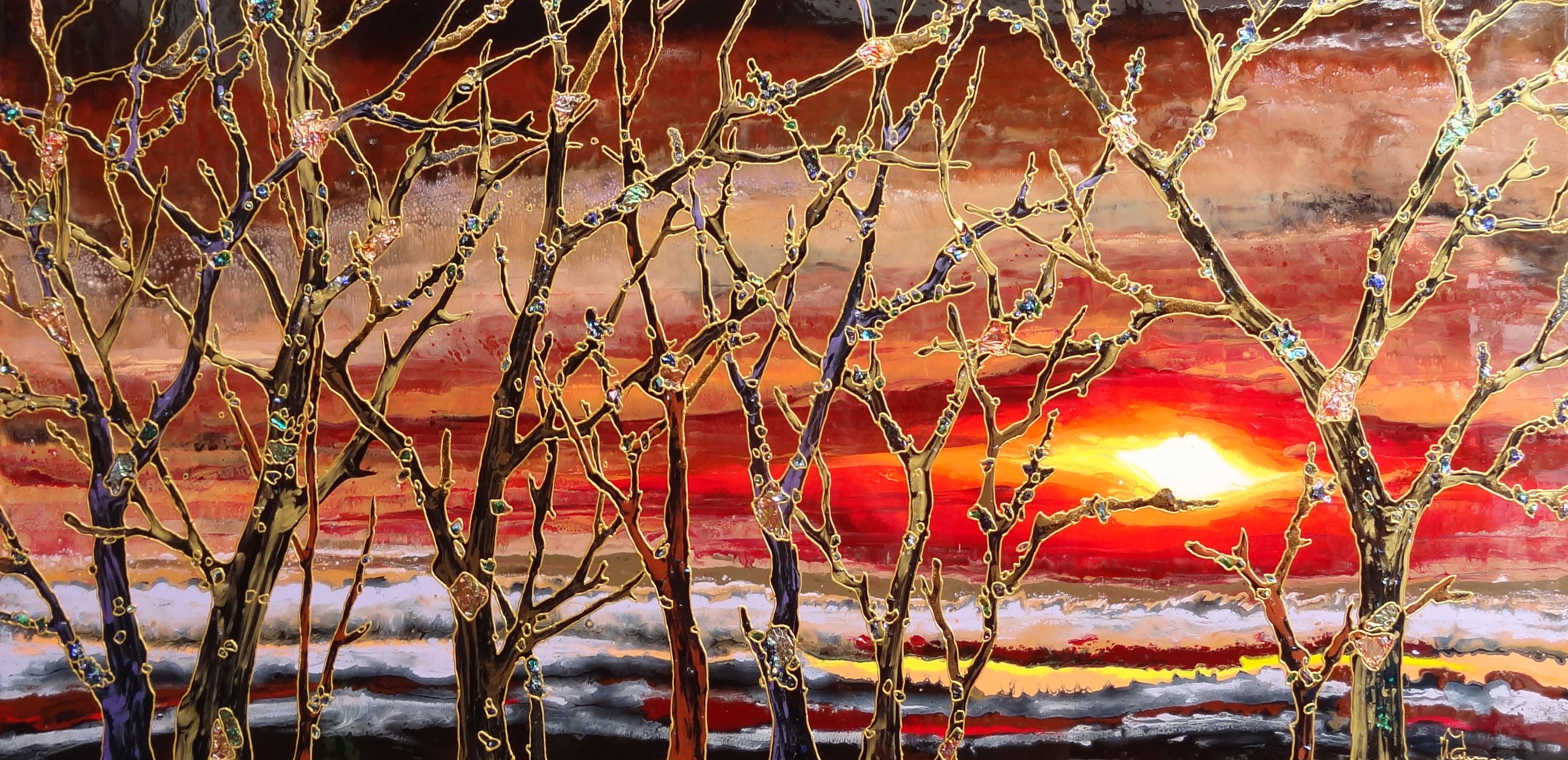 "Liquid Sunset (Holland) 24""x48"""