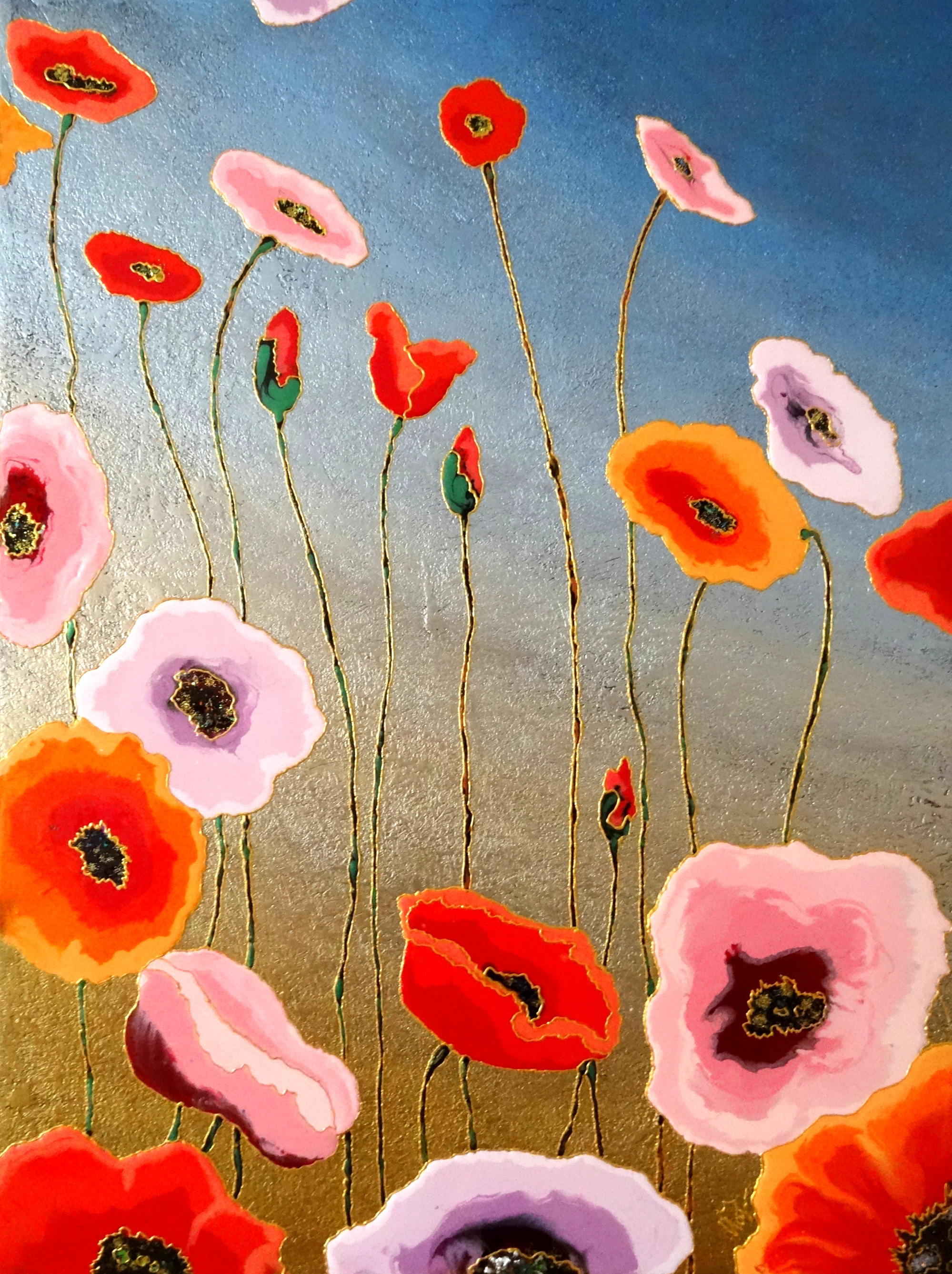 "Evening Poppies 30""x40"""