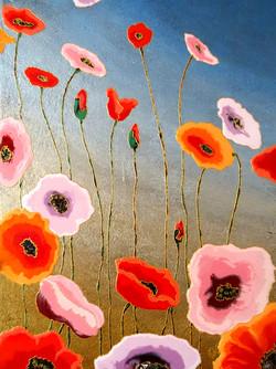"Evening Poppies 30""x40"""