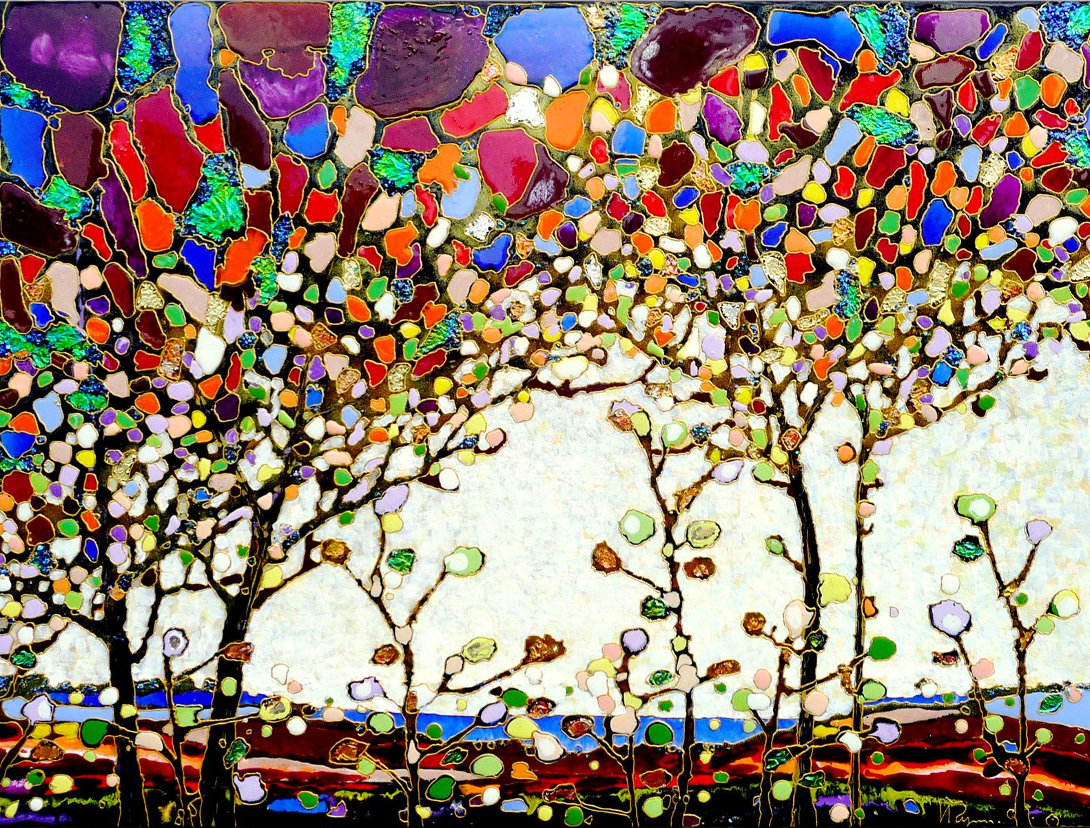 "Magic Trees 48""x60"""