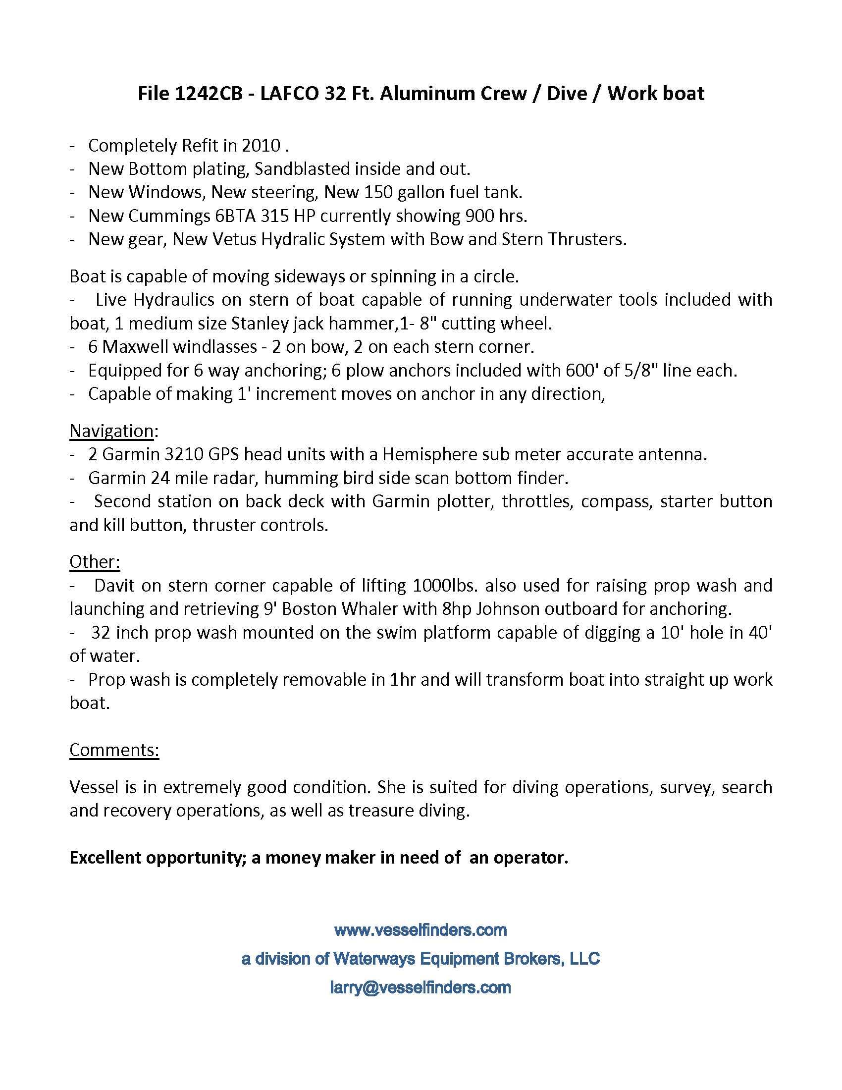 1242CB Vessel Information