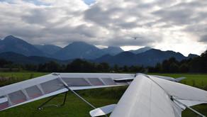 Testfliegen mit dem A-I-R Team am Tegelberg
