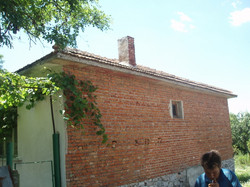 Side view of one of the houses