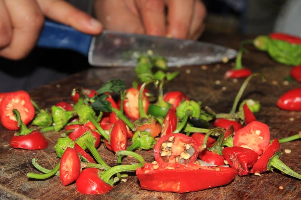 Découpage des piments, Uruguay