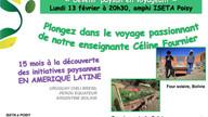 Soirée conférence le 13 février à Poisy (74)