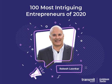 Transmit Security's Rakesh Loonkar recognized as Goldman Sachs 100 Most Intriguing Entrepreneurs